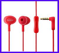 Наушники Remax RM-515 red с микрофоном