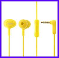 Наушники Remax RM-515 yellow с микрофоном