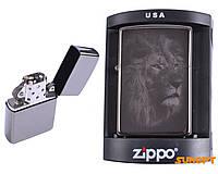 Зажигалка бензиновая Zippo №4225-4, ЛЬВЫ, 3 вида, в подарочной упаковке