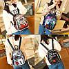 Рюкзак с разноцветными пайетками синий, фото 7