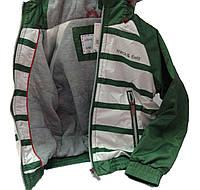 Детская Куртка-Ветровка мальчику, 79GREEN 98, 104, 110 Зеленый с белым