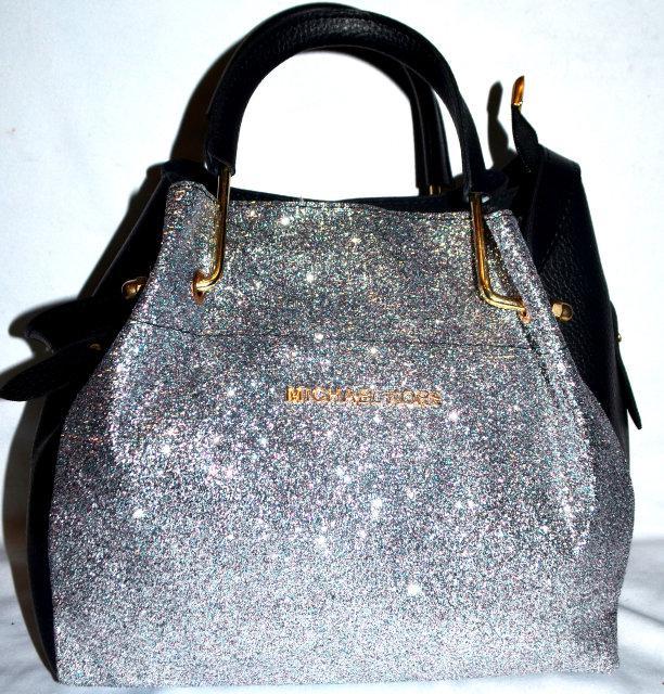 58004726057e Женская блестящая сумка с косметичкой Michael Kors - Беатрисса интернет -  магазин в Одессе