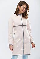 Элегантное демисезонное пальто полуприталенного силуэта