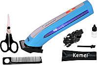 Триммер для бороды Kemei KM6911. 3 насадки, аккумулятор/батарейки