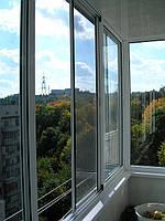 Алюминиевые раздвижные балконы