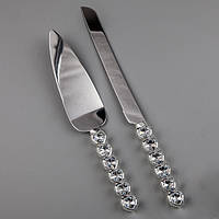 Нож с лопаткой для торта мельхиор!