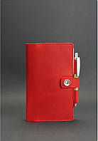 Кожаный Софт-бук 4.0 Коралл. Ручная работа, фото 1