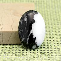 Яшма черно-белая, кабошон, 163КБЯ