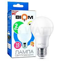 Лампа светодиодная Biom 10w a60 e27 тёплый свет