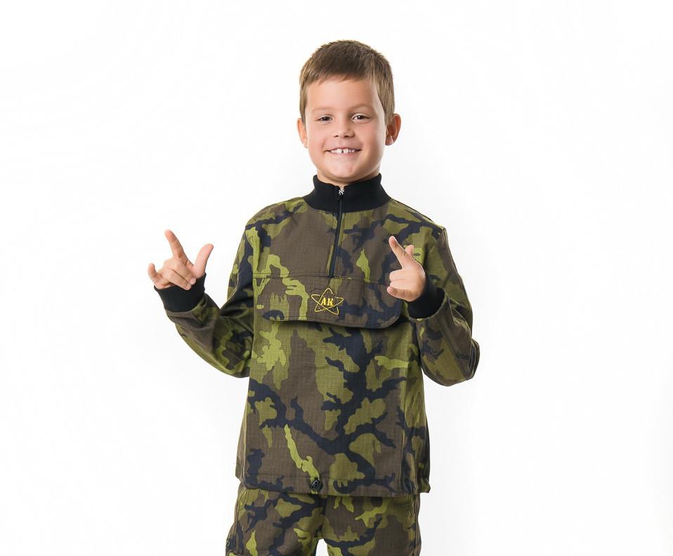 Детская куртка камуфляж Лес рост:128 см.