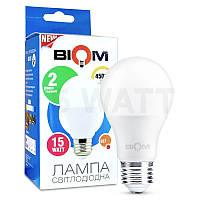 Лампа светодиодная Biom 15w a70 e27 тёплый свет