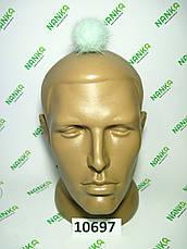 Меховой помпон Норка, Неж. Зеленый, 5 см, 10697, фото 2