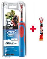 Детская  зубная щетка Oral-B D12. 513 Stages Power (для мальчика) 2 насадки