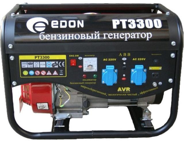 Генератор бензиновый Edon PT-3300 3300 Вт (2 розетки + выход 12В под клеммы)