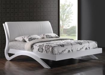 """Кровать 1,6 """"Эвита"""" (белый глянец)"""