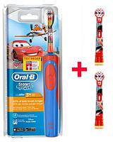 Детская электрическая зубная щетка Oral-B D12. 513 (для мальчика) 3 насадки в комплекте