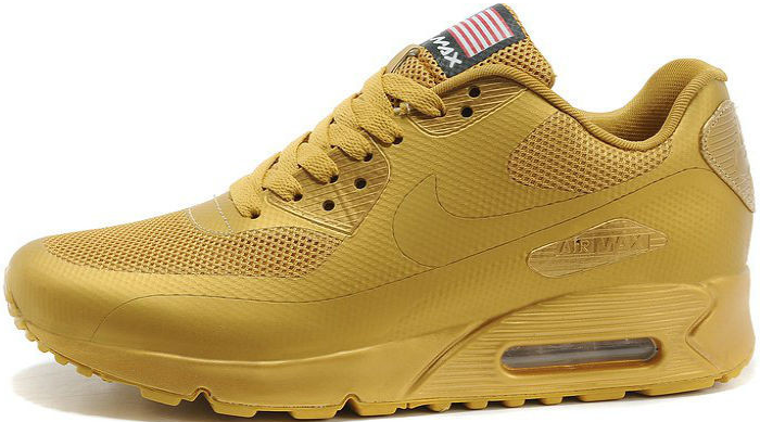 e0f3b208 Nike Air Max 90 Hyperfuse Gold Independence Day (USA)   мужские кроссовки;  золотые