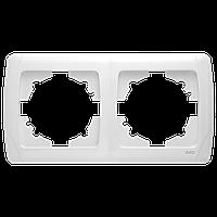 Рамка двойная горизонтальная белая Viko Carmen
