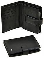 Мужской кожаный кошелек портмоне dr.Bond с отделом под паспорт натуральная кожа