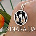 Серебряная мусульманская подвеска с ониксом Мечеть, фото 5