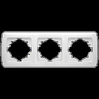 Рамка тройная горизонтальная белая Viko Carmen