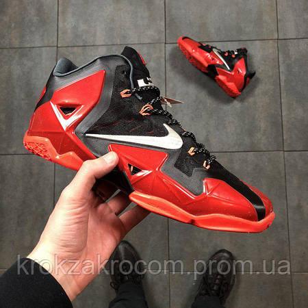 Под заказ) Кроссовки баскетбольные Nike LeBron XI 11 Miami Heat replica AAA 26194365871