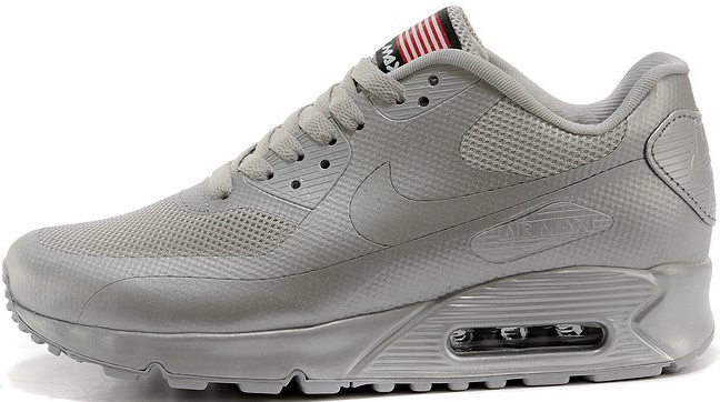 Nike Air Max 90 Hyperfuse Ash Grey Independence Day (USA)   мужские  кроссовки  серые серебристые 8049be1c868