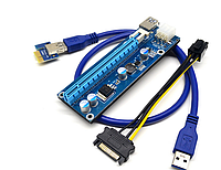Райзер 6pin ver 006C PCI-E PCI Express Riser USB 3.0 60см
