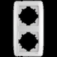 Рамка двойная вертикальная белая Viko Carmen