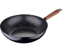 Сковорода-ВОК (карбоновая сталь+мрамор/ 24*6,5 см) Renberg ESSENTIAL STEEL RB-1599