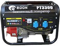 Генератор бензиновый Edon PT-3300 3300 Вт (2 розетки + выход 12В под клеммы), бензогенератор Edon