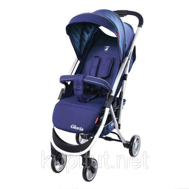 Коляска прогулочная CARRELLO Gloria CRL-8506 Shadow Blue в льне, резиновое колесо /1/