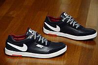Кроссовки мужские Nike реплика  черные натуральная кожа замша (Код: Ш444) В наличии только 41р - 27 см