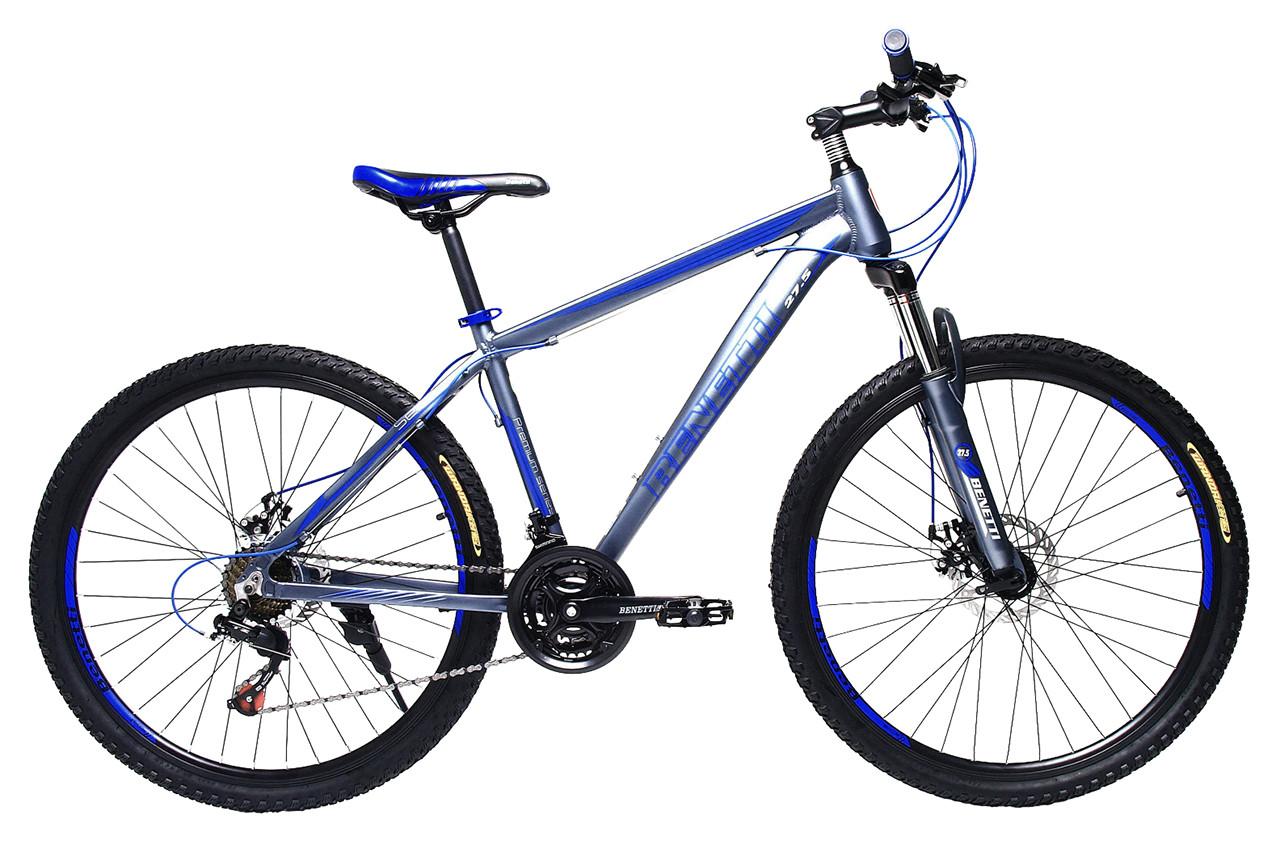 "Горный велосипед BENETTI SETTE 27.5″, 17"", 19"" Серый / Синий"
