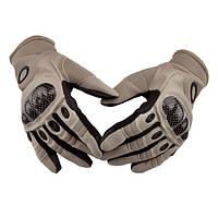 Тактические полнопалые перчатки Oakley Factory Pilot бежевые