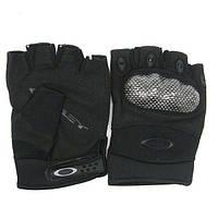 Тактические беспалые перчатки Oakley Factory Pilot черные