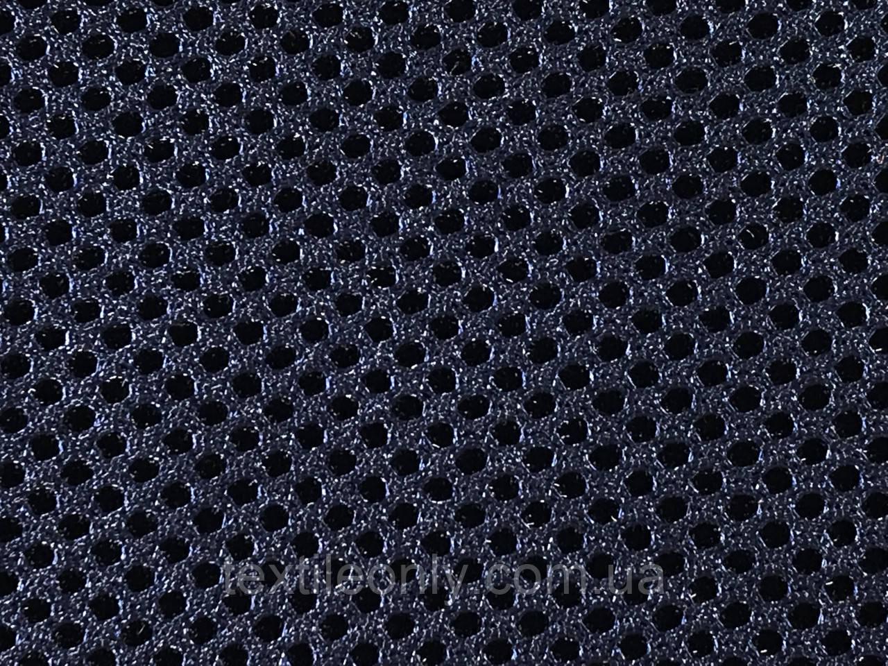 Сетка сумочно-обувная на поролоне артекс (airtex) цвет темно синий