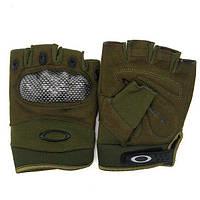 Тактические беспалые перчатки Oakley Factory Pilot олива, зеленые