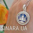 Серебряная мусульманская подвеска Мечеть - Мечеть кулон серебро 925  - Подвеска Мечеть серебро, фото 5