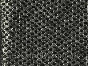 Сітка сумочно-взуттєва на поролоні артекс (airtex) колір темно сірий