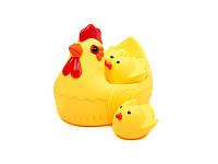 Пищалка для малыша Курочка с цыплятами 33059-7 желтая