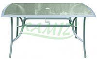 САДОВЫЙ СТОЛ 150*90 (алюминиевой с закаленным стеклом) два цвета НАЛИЧИЕ