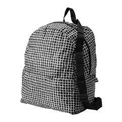 Рюкзак IKEA KNALLA черный белый 903.304.83