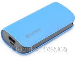 Портативное зарядное устройство platinet leather 5200mah black power blue (pmpb52lbl)