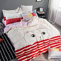Комплект постельного белья Meow 100 % хлопок