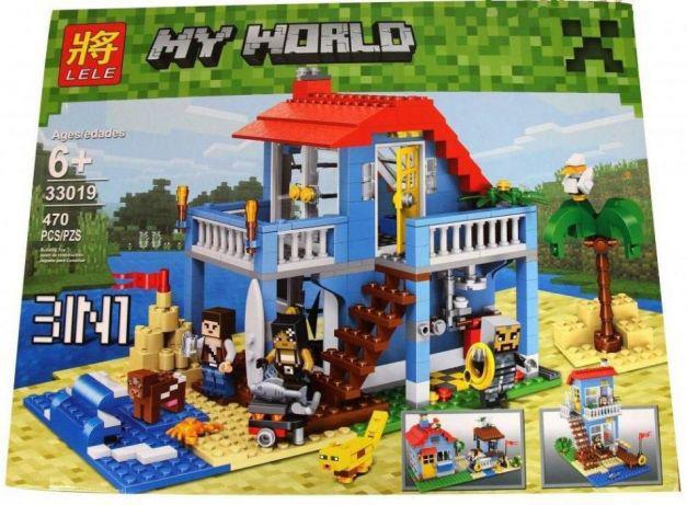 """Конструктор Minecraft Lele 33019 """"Дом на морском побережье 3 в 1"""" 470 деталей. (Аналог ЛЕГО 7346)"""