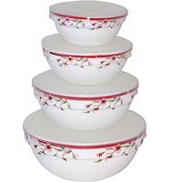Набор емкостей для хранения продуктов с крышкой 4шт (7' ,6' , 5' , 4,5' ) Полевые цветы