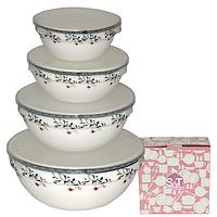 Набор емкостей для хранения продуктов с крышкой 4шт (7', 6' , 5' , 4,2' ) 'Мильфлер'