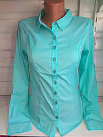 Женская рубашка блузка с длинным рукавом  р. S,M,L,XL,XXL