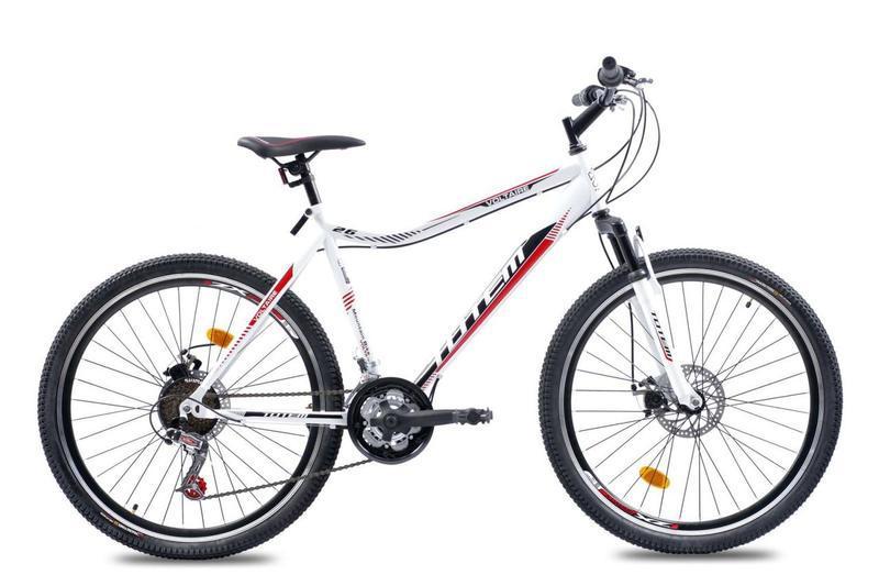 """Подростковый велосипед Totem VOLTAIRE R24"""" с дисковыми тормозами (Бело-красный)"""